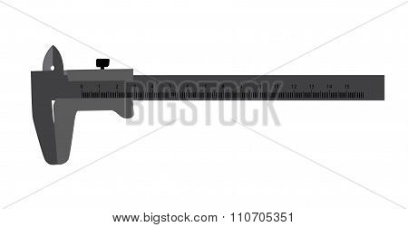 Calipers. Isolated on White Background. Vector Illustration.