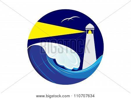 icon lighthouse .