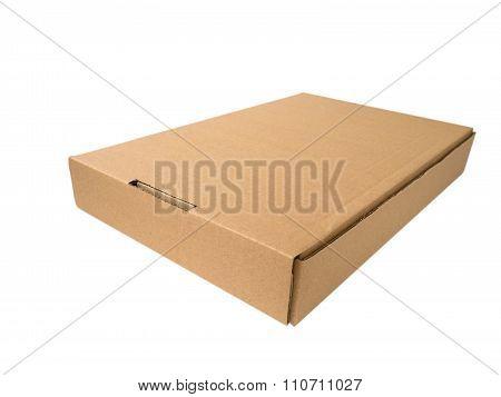 Flat Cardboard Box Isolated On White