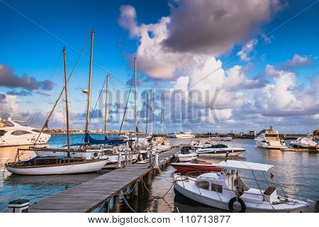 View Of Paphos Harbour. Cyprus