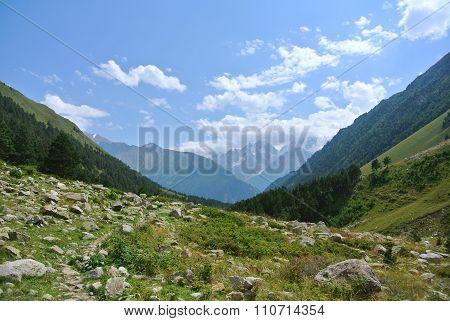 Near The Elbrus. Canyon Of River Irik.