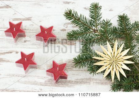 Red Advent Stars