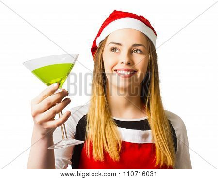 Christmas Party Girl In A Holiday Celebration