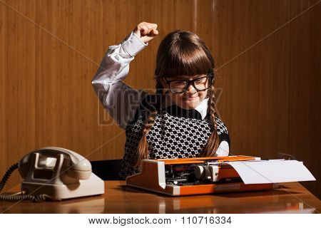 Little girl runs a business