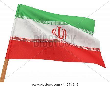 -Flagge flattern im Wind. Iran