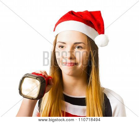 Christmas Girl On A Search And Find Present Hunt