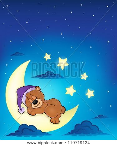 Sleeping bear theme image 7 - eps10 vector illustration.