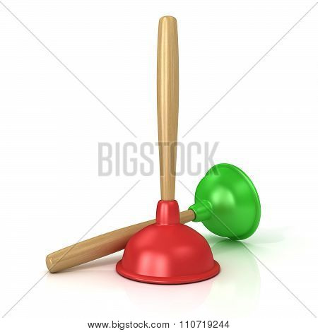 Two plungers