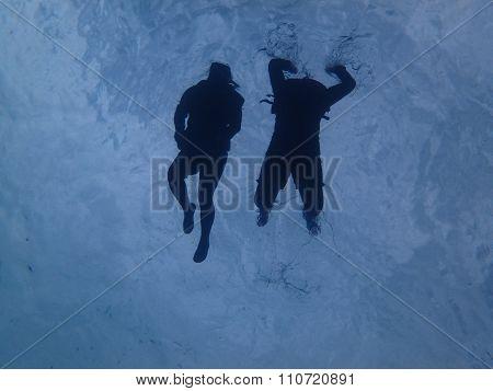 snorkeling in ocean