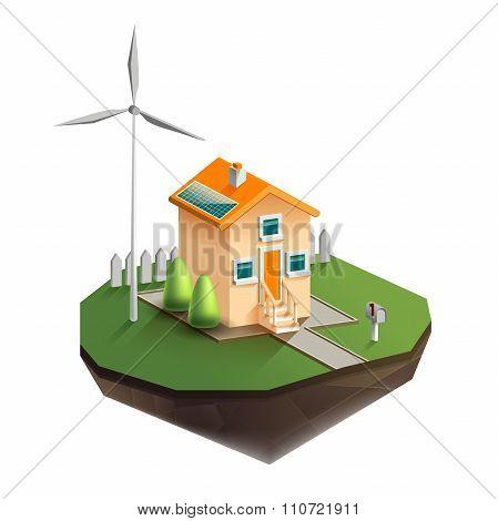 Environmentally friendly house