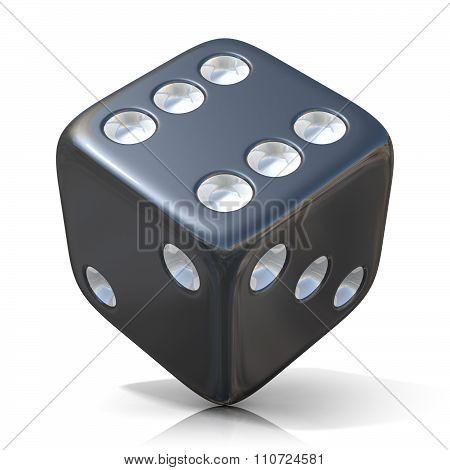 Black game dice