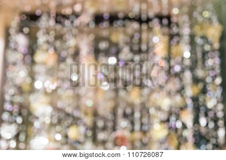 Blurred Defocussed Abstract Background Of A Christmas Chandelier