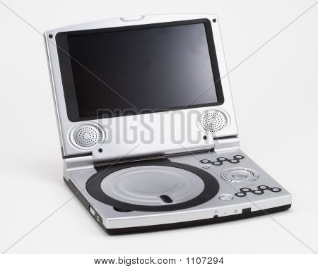 Portable Silver Dvd Player