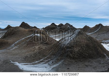 Mud Volcano at gobustan in Azerbaijan