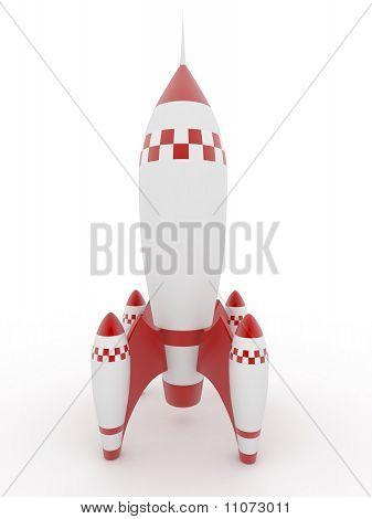 Modell der Rocket auf weißem isoliert