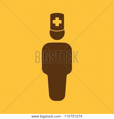The doctor avatar icon. Physician and practitioner, medicine, hospital symbol. Flat