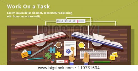 Work on Task Design Flat Style