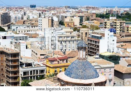 Areal view, as seen from the miguelete, Valencia