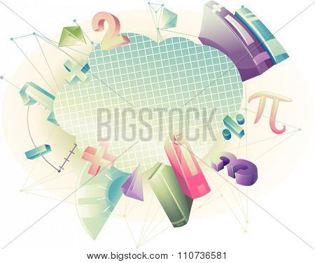 Abstract Illustration Featuring Mathematical Symbols