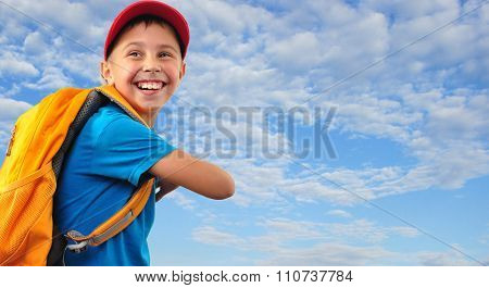 Kid With With Backpack