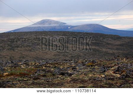 Hilly Tundra Landscape Russia Outback