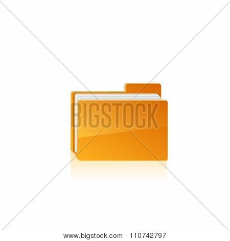 Yellow folder. Vector