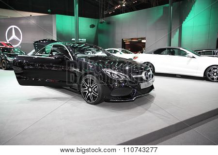 Bangkok - December 1: Mercedes Benz E250 Coupe Car On Display At The Motor Expo 2015 On December 1,