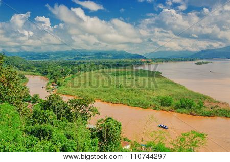 The Region Of The Golden Triangle, The View From Thailand To Burma