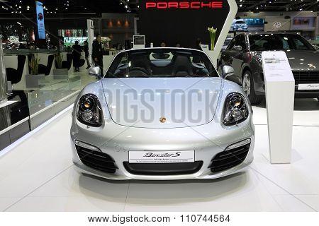 Bangkok - December 1: Porsche Boxster S Car On Display At The Motor Expo 2015 On December 1, 2015 In