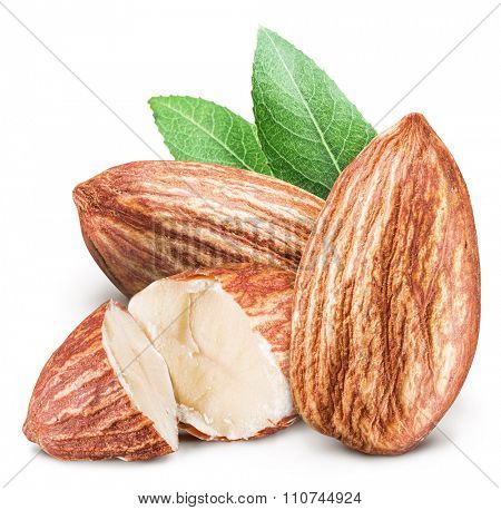 Almond nuts. File contains clipping paths.