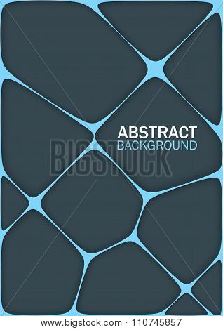 Volumetric Geometrical Dark Background With Outline Extrude Effect.  Abstract 3D Vector Background.