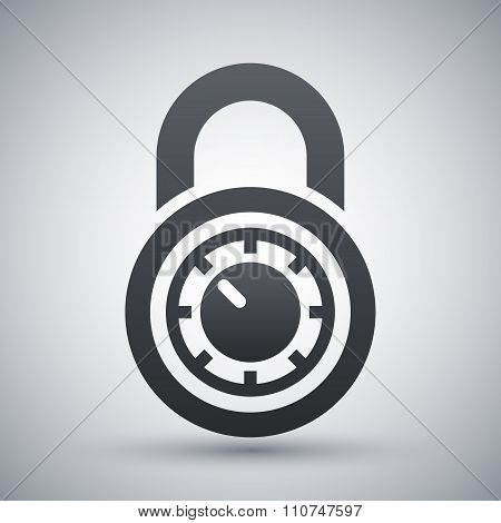 Vector Combination Lock Icon