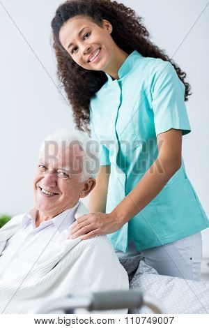 Older Man And His Carer