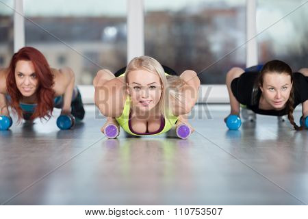 Press-up Exercise With Dumbbells