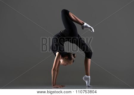 Girl Doing Bridge Exercise