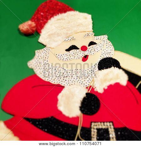 Vintage Santa Claus Christmas decor - Instagram Filtered