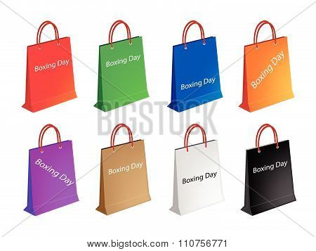 Colorful Paper Shopping Bags For Boxing Day