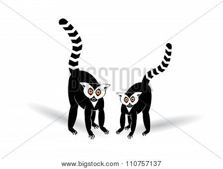 icon two lemurs.