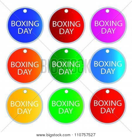 Boxing Day Round Banners For Special Price Products