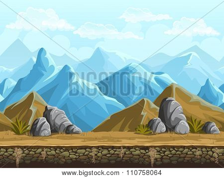 Seamless Background Of Snowy Mountains