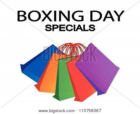 Colorful Paper Shopping Bags For Boxing Day Special