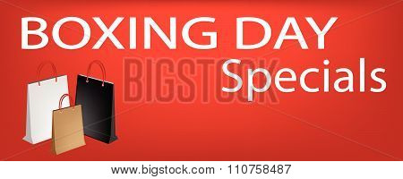 Paper Shopping Bags On Boxing Day Sale Sticker