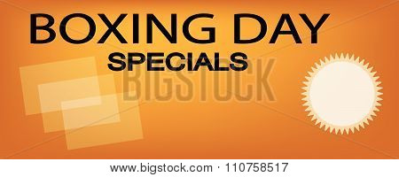 Paper Shopping Bags On Boxing Day Sale Banner