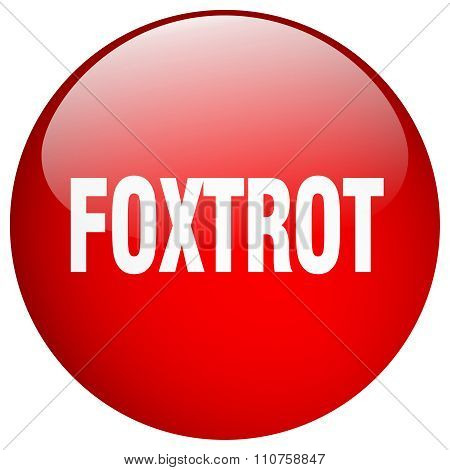 Foxtrot Red Round Gel Isolated Push Button