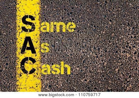 Accounting Business Acronym Sac Same As Cash