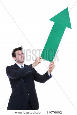 Business Man Arrow Up