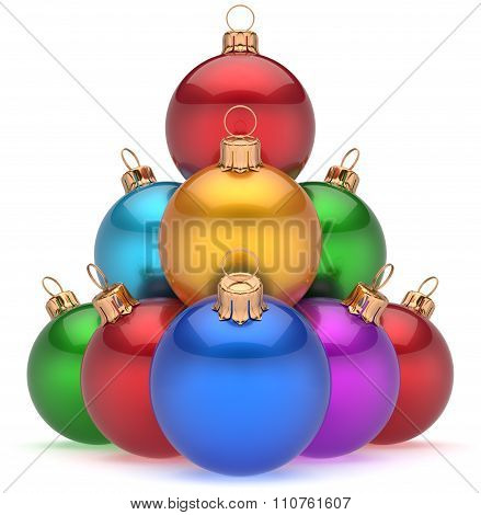 Christmas Balls Pyramid Multicolored New Year's Eve Baubles