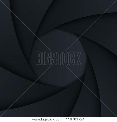 Shutter Aperture. Vector Background.