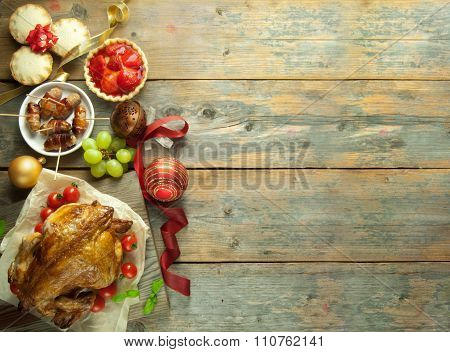 Christmas Meal Background