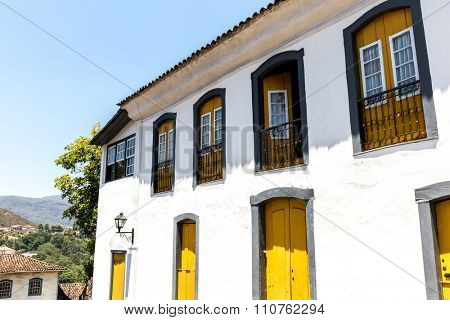 Antique houses in Ouro Preto in Minas Gerais, Brazil